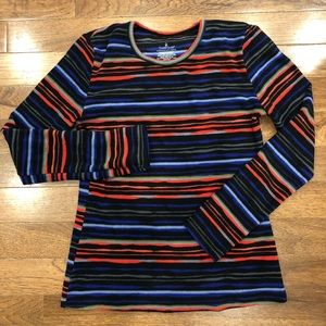 Cuddl Duds Colorful Striped Fleece Long Sleeve